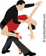 Couples dancing a tango