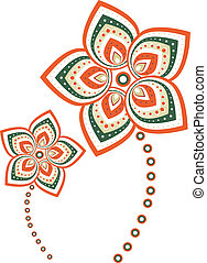 Flower graphic style pattern