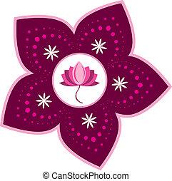 Lotus - Stock Vector Illustration:Lotus pattern