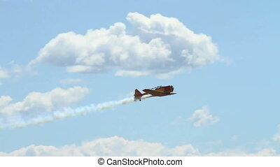Harvard Mark IV performing at an airshow