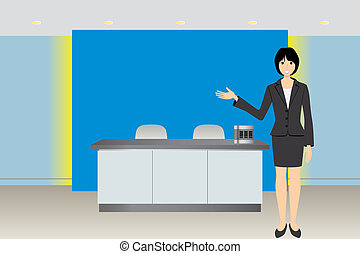 Business background - Illustration vector
