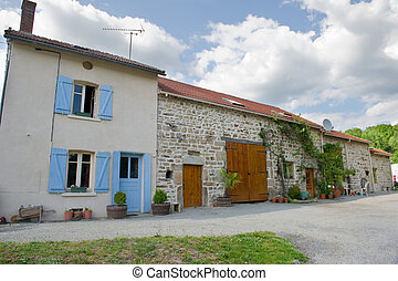 Typical French farmhouse