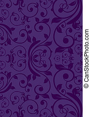 Purple Vintage background - Classic vintage flower design