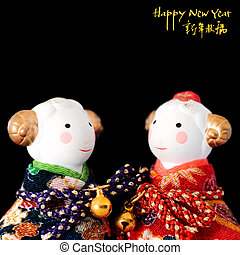 Chinese New Year toys - Pair of Chinese New Year bull toys...