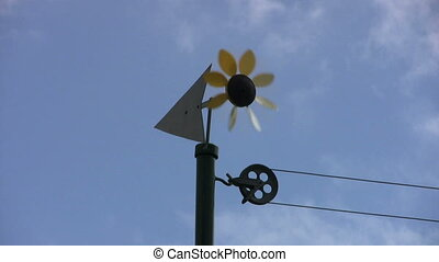 Sunflower Weathervan Spins To Stop - A cute sunflower...