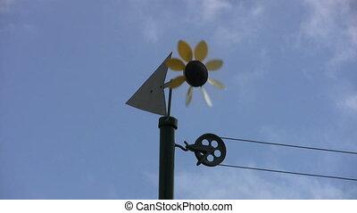 Sunflower Weathervan Spins To Stop