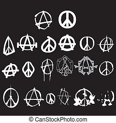 anarchy logo - anarchy and peace logo