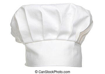 Chefs hat isolated - Photo of a chefs hat traditionally...