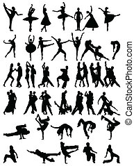 dance  - silhouette of dancing people