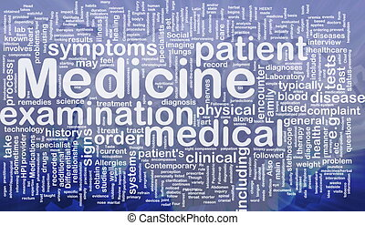 Medicine background concept - Background concept wordcloud...