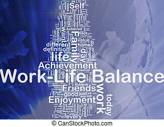 Work ?life balance background concept