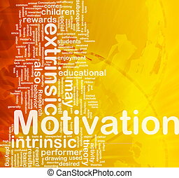 Motivation background concept - Background concept wordcloud...