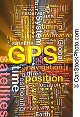 GPS positioning background concept glowing - Background...