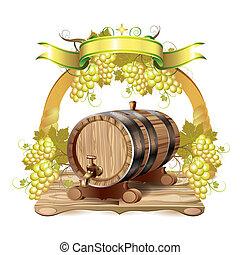 vino, barril