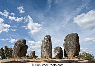 Megalithic monument of Almendres, Evora - Menhirs in...