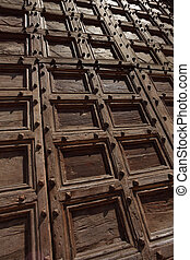 Old wooden doors background