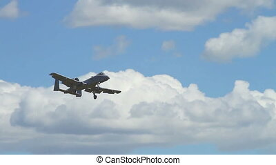 USAF A-10 Warthog - USAF jet fighter performing at an...