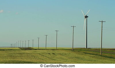 Wind Turbine and Powerlines
