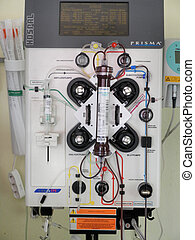 Dialysis equipment for blood cleansing