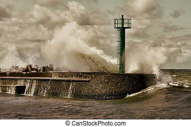 Huge storm wave