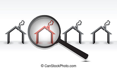 Searching Hot Property with Magnifying Glass