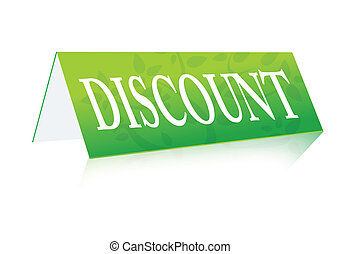discount table green sign illustration