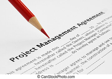 Project manager agreement