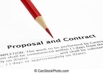 proposition, contrat