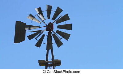 Farm windmill medium shot