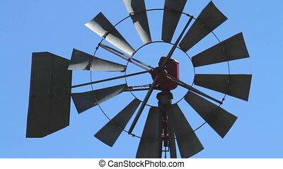 Farm windmill closeup