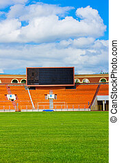 football field with score board, Minsk, Belarus
