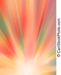 Multicolor Rays - Abstract multicolor rays background