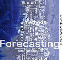 Forecasting background concept - Background concept...