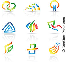 Cool Lines Abstract Icons - Vector illustration of Cool...