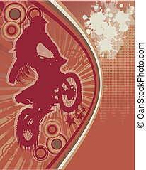 Biker Grunge Poster Vector - Abstract Grunge Background with...