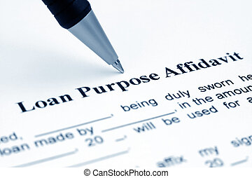 Loan purpose affidavit