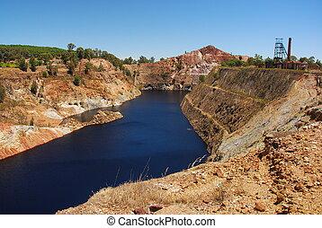 Industrial area, acid mine drainage