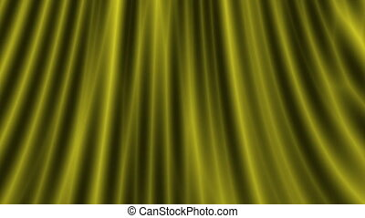 Opening gold silk curtain, hd - Opening curtain