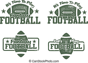 American Football and Fantasy stamps - These stamps feature...