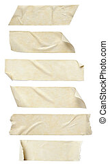 adhesive tape - collection of various adhesive tape pieces...