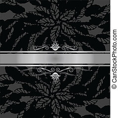 Luxury black and silver book cover vector illustration