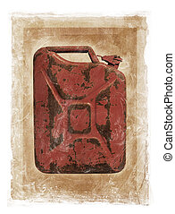 Grunge Jerry Can - Grunge dirty photomanipulation of a jerry...