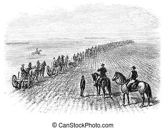 Ploughing - Agriculture in Dakota, USA: Ploughing. Image...