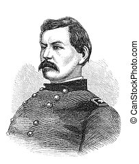 General McClellan - George B McClellan, a union general in...