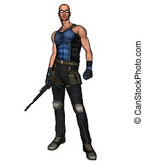 Sci-Fi Mercenary - 1 - Futuristic science fiction style...