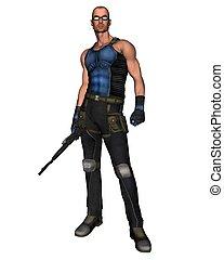 Sci-Fi Mercenary - 1 - Futuristic science fiction style...