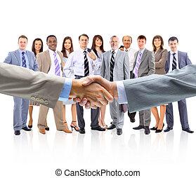 handshake isolated on business bac - handshake isolated on...