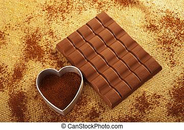 Cacao e cioccolato - Chocolate and cocoa on jute