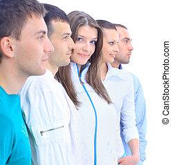 Closeup portrait of young friends