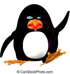 Dancing Penguin Cartoon - Funny little dancing penguin...